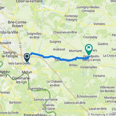 Itinéraire à partir de Château du Grand-Jard, Voisenon
