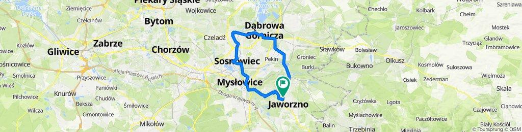 Piekarska 6, Jaworzno do Wojciecha Bogusławskiego 167–169, Jaworzno