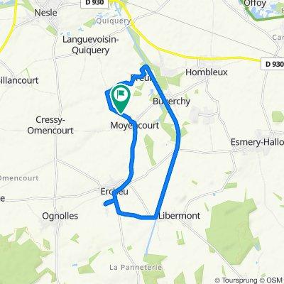 Steady ride in Moyencourt