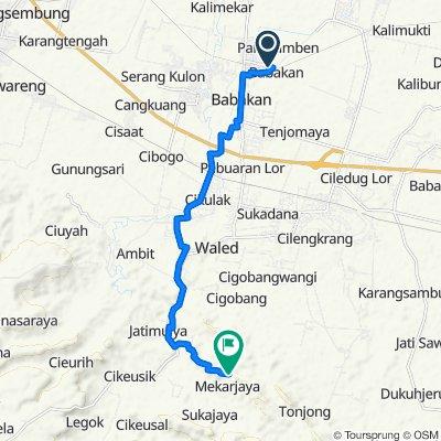 Jalan Tubagus Pasaeh 137, Kecamatan Babakan to Unnamed Road, Cimahi