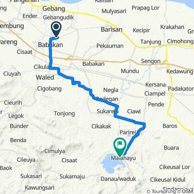 Jalan Tubagus Pasaeh 137, Kecamatan Babakan to Jalan Wisata Malahayu, Banjarharjo