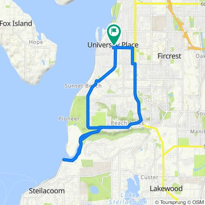 2500–2540 Grandview Dr W, University Place to 2510 86th Ave W, University Place