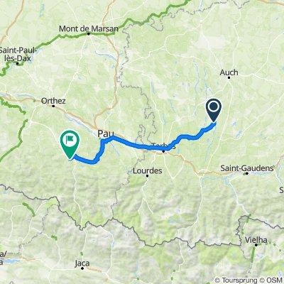 D2, Viozan nach Route de Baretous 251, Oloron-Sainte-Marie