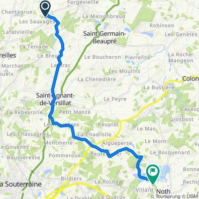 De D71, Saint-Agnant-de-Versillat à 2 Beaulieu, Noth