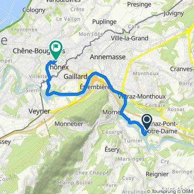 Coudry, Arthaz-Pont-Notre-Dame to Avenue Petit-Senn 49T, Chêne-Bourg