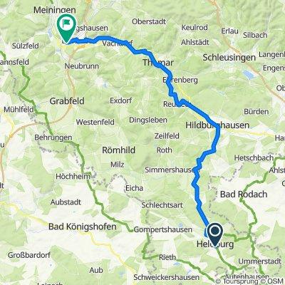 Quer durch`s Land 12.Etappe Heldburg - Grimmenthal