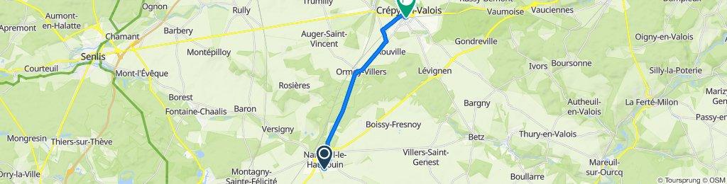 Itinéraire à partir de 43 Rue Charles Baudelaire, Nanteuil-le-Haudouin