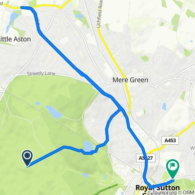 Route to 120 Rectory Road, Sutton Coldfield