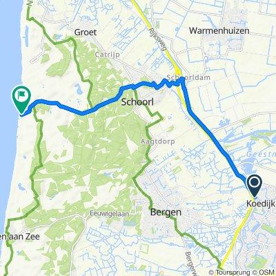 Kanaaldijk 187, Koedijk to Strand Schoorl aan Zee 1, Schoorl
