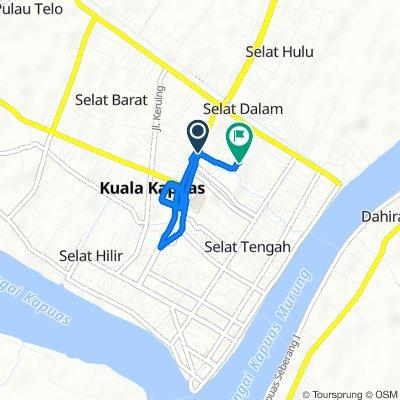 Jalan Tambun Bungai 49, Kecamatan Selat to Jalan Tambun Bungai Gang VI no 11, Kecamatan Selat