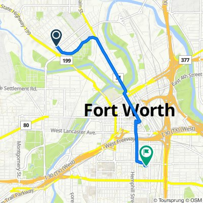 1401–1427 Homan Ave, Fort Worth to 132–198 W Cannon St, Fort Worth