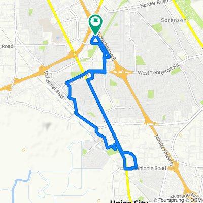 Restful route in Hayward