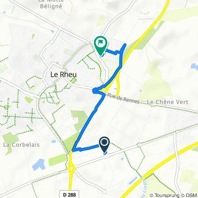 De 11 Avenue de la Croix Verte, Le Rheu à 3 Mail Gaston Bardet, Le Rheu