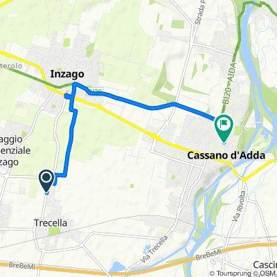 Sporty route in Cassano d'Adda