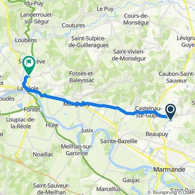 De D115, Mauvezin-sur-Gupie à D670, La Réole