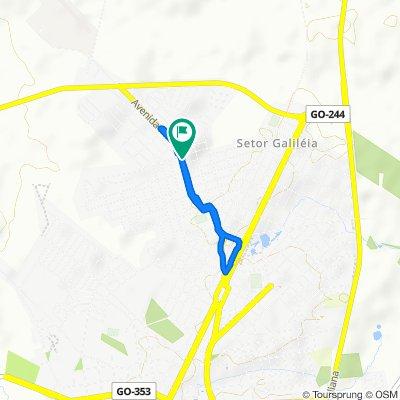 Restful route in Porangatu