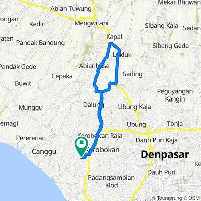 Jalan Raya Semer 19, Kecamatan Kuta Utara to Kerobokan, Kecamatan Kuta Utara