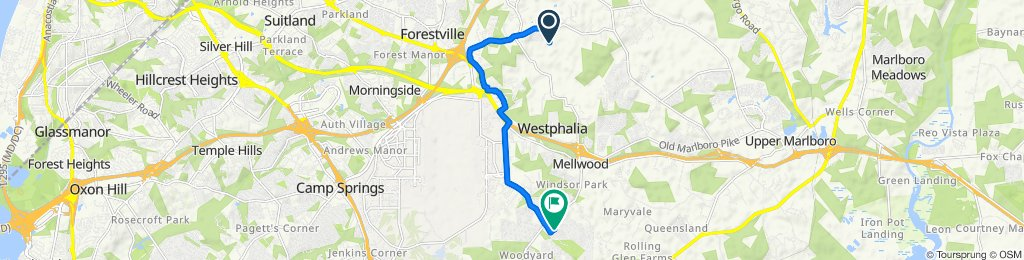 3311 Valley Forest Dr, Upper Marlboro to 10005 Oakengate Dr, Upper Marlboro