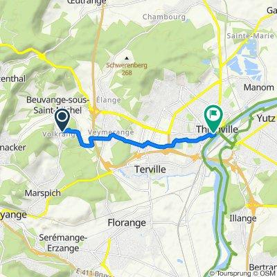 De 21 Route des Futaies, Thionville à 37 Rue de la Tour, Thionville