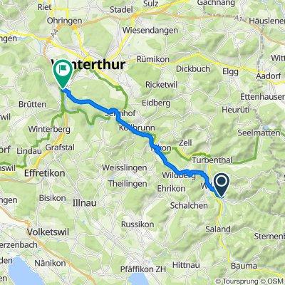 Tablat 1001, Wila nach Auwiesenstrasse 51, Winterthur
