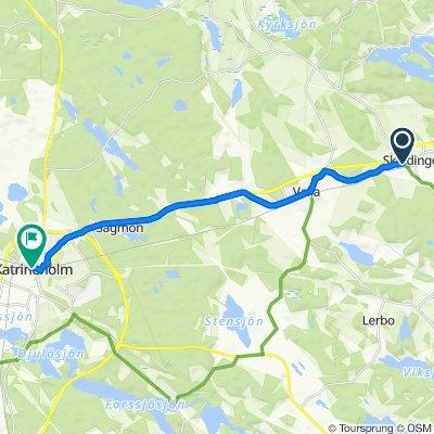 Landsvägsgatan 32, Sköldinge to Fabriksgatan 10, Katrineholm
