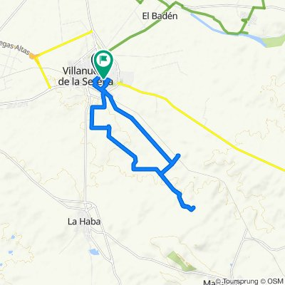 De Calle Valdivia 6, Villanueva de la Serena a Avenida Chile 9, Villanueva de la Serena