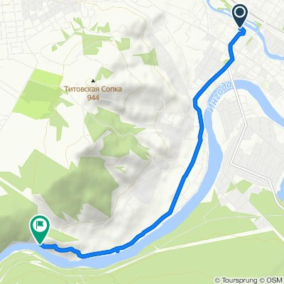 Route from 1-й микрорайон, 28, Chita