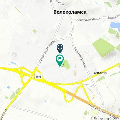 От Школьная улица, 8, Волоколамск до Школьная улица, 12/1, Волоколамск