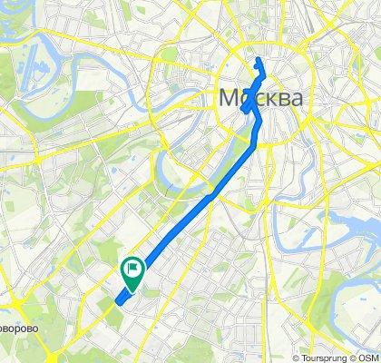 От Ленинский проспект, 99А, Москва до улица Новаторов, 10, Москва