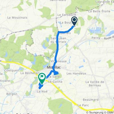Itinéraire vers 2 Rue des Petits Ruisseaux, Missillac