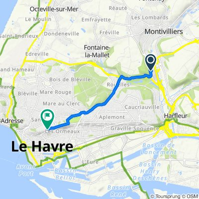 Moderate route in Le Havre