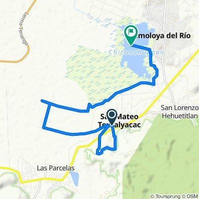 Restful route in Almoloya del Río