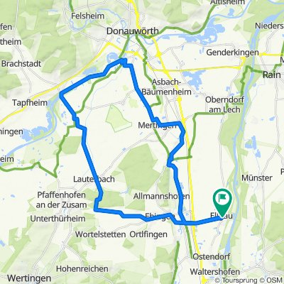 Ellgau- Lauterbach-Donau- Mertingen - Ellgau