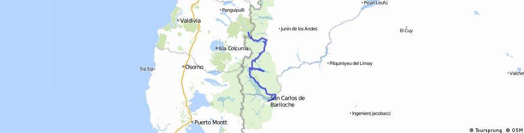 Bariloche - siete lagos - chile