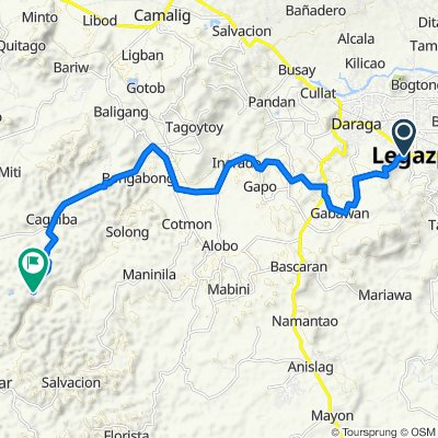 Route to Unnamed Road, Camalig