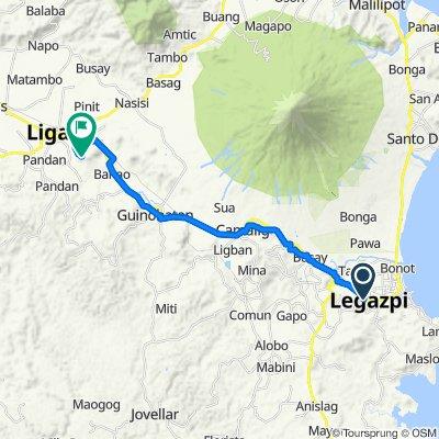Rizal Street 873, Legazpi City to Hill, Ligao
