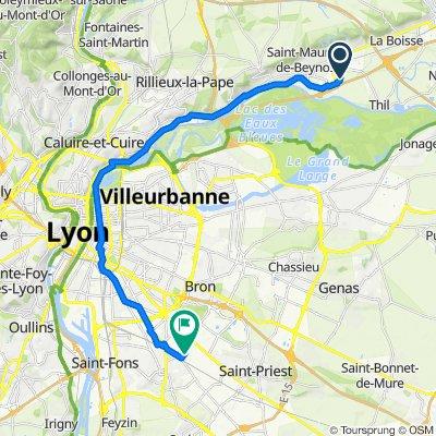 Itinéraire vers 10–22 Rue Romy schneider, Saint-Priest