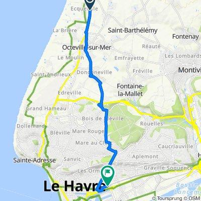 De Impasse de la Ferme Fougard, Octeville-sur-Mer à 10 Gare, Le Havre