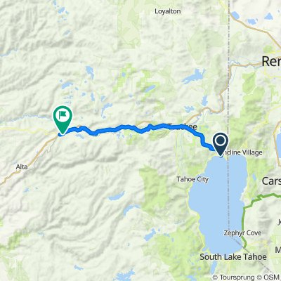 Day-7: 400 Brassie Ave, Tahoe Vista to 43405 Laing Rd, Emigrant Gap