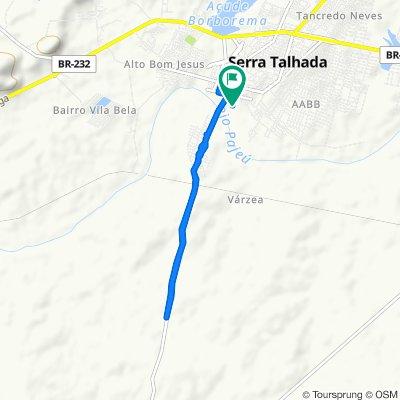 Restful route in Serra Talhada