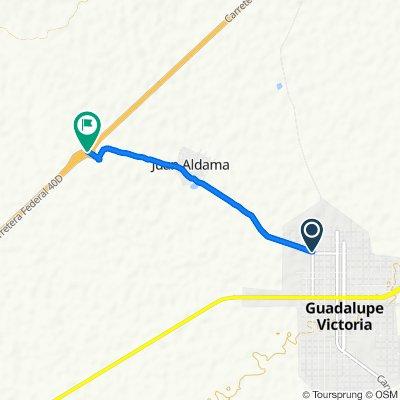 Moderate route in Guadalupe Victoria