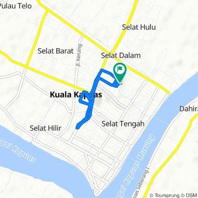 Jalan Tambun Bungai Gang VI no 11, Kecamatan Selat to Jalan Tambun Bungai Gang VI no 11, Kecamatan Selat
