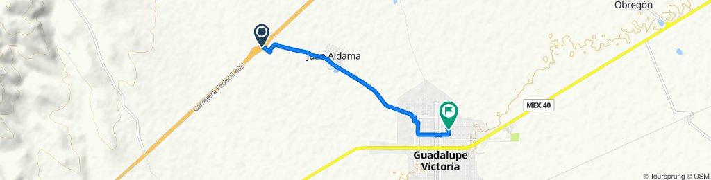 Steady ride in Guadalupe Victoria