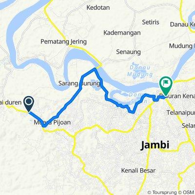 Jalan Jambi - Muara Bulian, Kecamatan Jambi Luar Kota to Jalan Mr. Assaat 18, Kecamatan Pasar Jambi