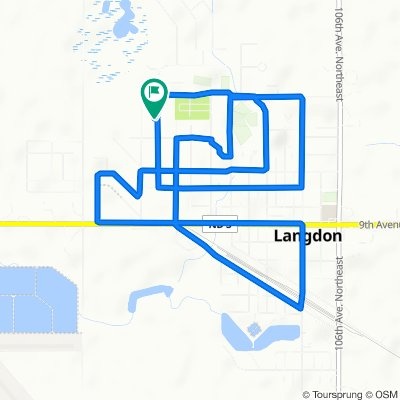 Moderate route in Langdon