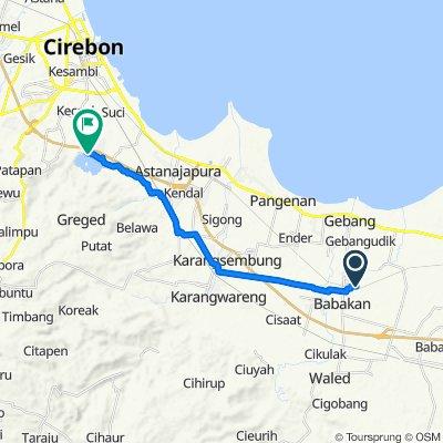 Jalan Tubagus Pasaeh 137, Kecamatan Babakan to Setupatok, Kecamatan Mundu