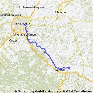 Garonne von Castes nach Bordeaux