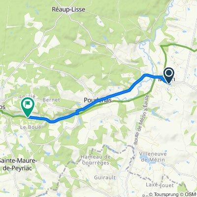 Restful route in Mézin