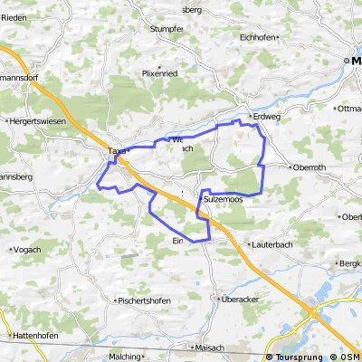 Odelzhausen - Erdweg - Sulzemoos - Einsbach - Odelzhausen