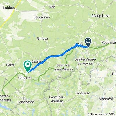 De 127A Canazin, Sainte-Maure-de-Peyriac à 951–955 Route de Sos, Gabarret